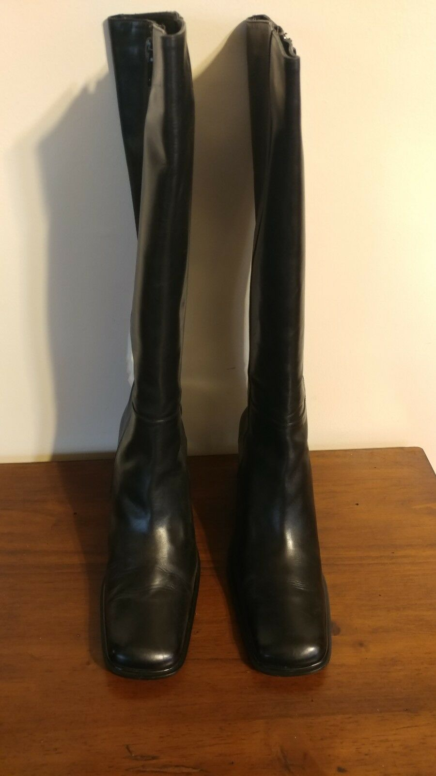 Via spiga classic square toe tall Größe schwarz Exquisite Leder Stiefel Größe tall 7.5 dae1f6
