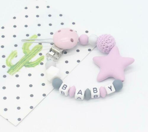 Baby Silicone Dummy Clip Chain Pacifier Baby Gift