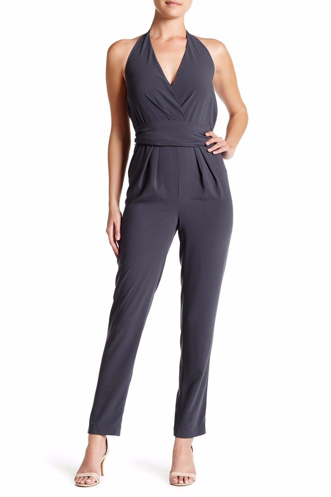 Halston Heritage Halter Self-Tie Jumpsuit Size 6 MSRP   525.00
