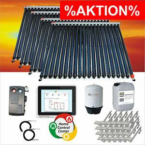 🔥 Sonnenkollektor Solaranlage Komplettset Röhrenkollektor Set Solarkollektor🔥