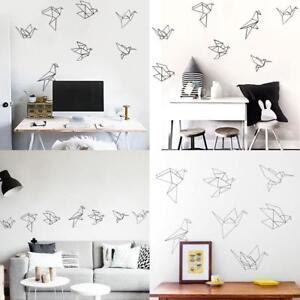 c02efc045c Image is loading PVC-Nordic-Style-Geometric-Origami-Bird-Wall-Sticker-