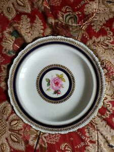 Qauldonde-England-Hand-painted-rose-plate