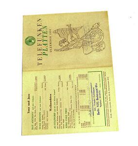 Aromatischer Geschmack Telefunken Platten Katalog Dezember 1950 k119