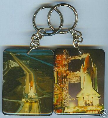 STS Space Shuttle 2 Sided Collectors Keychain #6 NASA