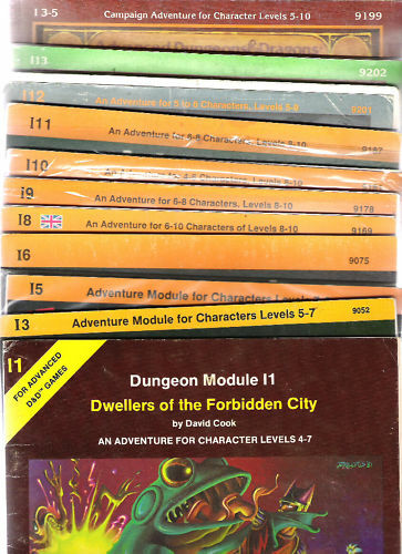 TSR ADVANCED DUNGEONS & DRAGONS I SERIES AD&D MULTILIST AD&D ROLE PLAY RPG 1E
