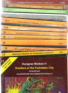 Tsr Advanced Dungeons & Dragons Série I Multiliste Ad & D Jeu de rôle Rpg 1e