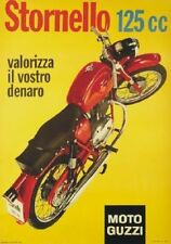 "TARGA VINTAGE ""MOTO GUZZI STORNELLO 125"" PUBBLICITA',ADVERTISING, POSTER, PLATE"
