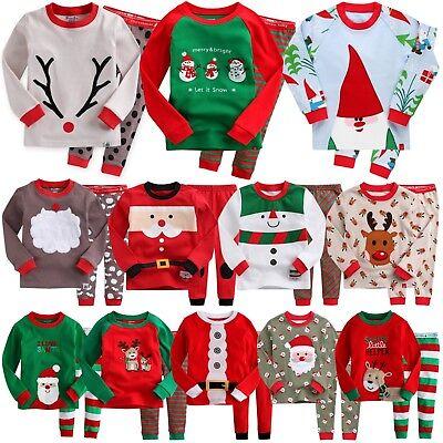 "Vaenait Baby Kids Boys Girls Christmas Clothes Pajama Set /""Snow Carol/"" 12M-7T"