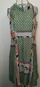 Beautiful-Vintage-Style-40-039-s-50-039-s-vibe-Dress-satin-feel-Bertha-collar