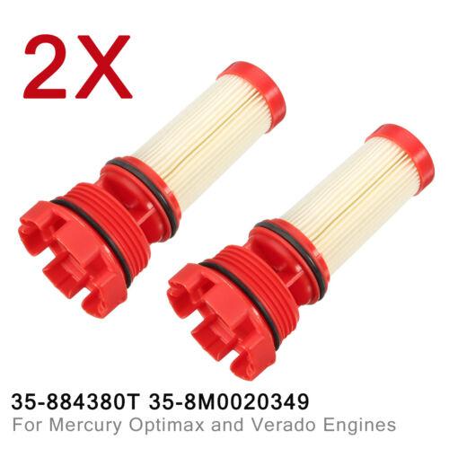2pcs Fuel Filter For Mercury Optimax Verado Engines 35-884380T 35-8M0020349 US