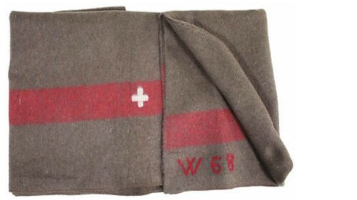 Svizzera Ch Militare Esterno Coperta di Lana Swiss Army 200 x 140 CM NUOVA