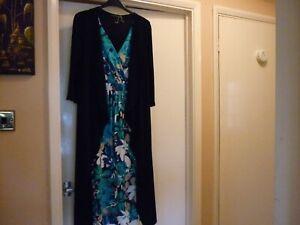 Unusual-designer-dress-size-14-folds-and-integrated-jacket-DAVID-EMANUEL
