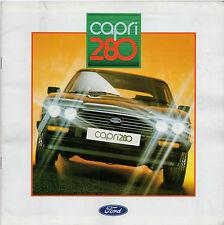 Ford Capri Mk3 280 Limited Edition 1987 UK Market Sales Brochure