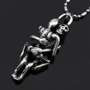 Skeleton-For-Men-Double-Skeleton-Skull-Stainless-Steel-Skull-Pendant-Necklace