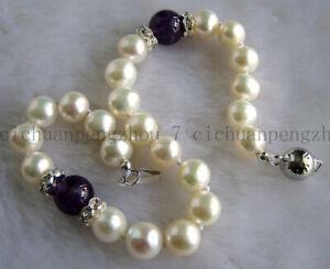 "Fashion 6-7//7-8mm Natural Multicolor Freshwater Perle Élastique Bracelet 7.5/"" AAA"