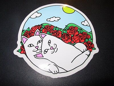 "RIPNDIP Skate Sticker CUDDLE Lord Nermal 3.5/"" skateboards helmets decal"