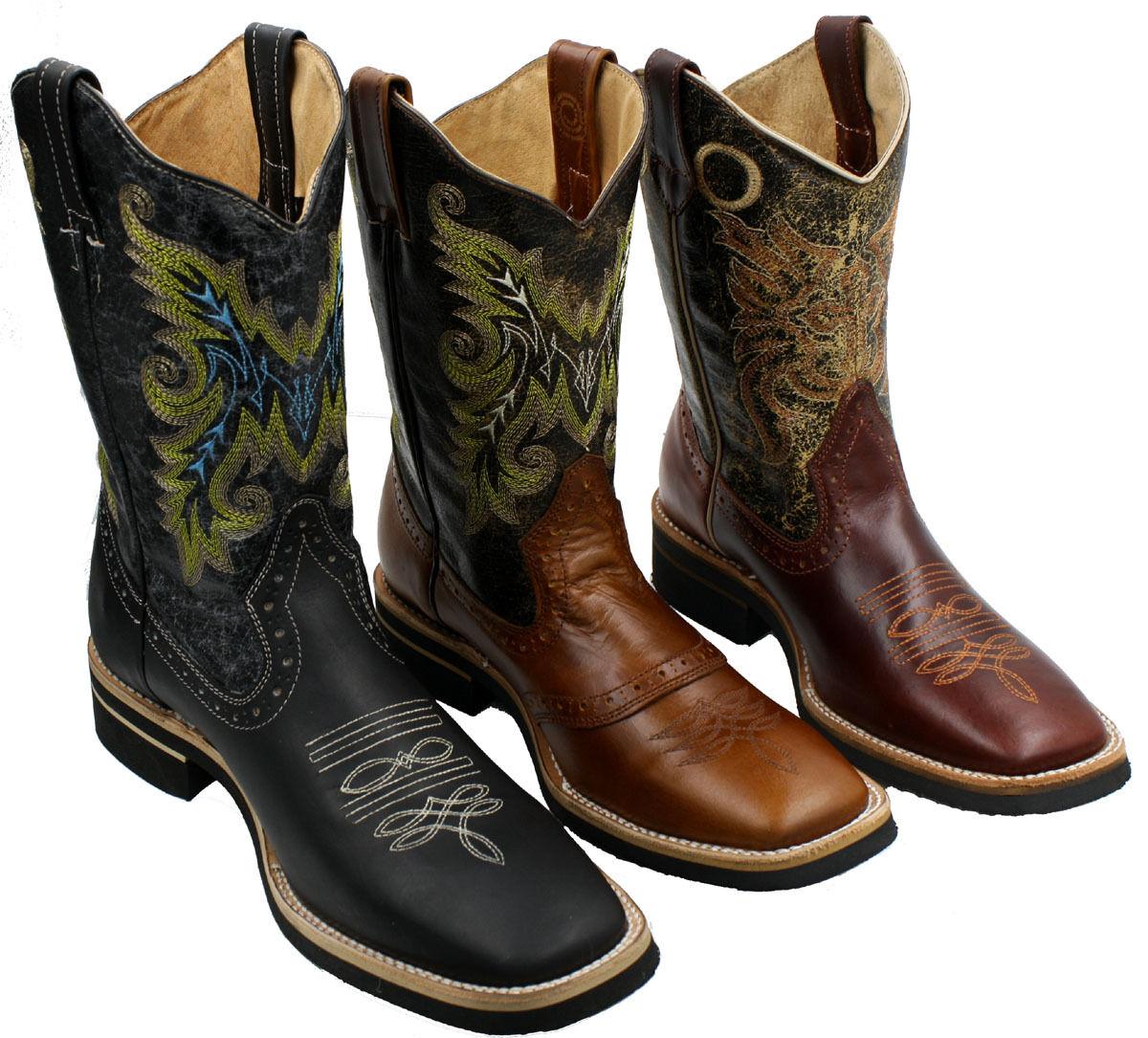 Cuero para Hombre botas de vaquero animal print Rodeo Toro Precio Especial  CH850
