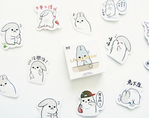 Machiko bunny rabbit cute kawaii kitsch box of paper stickers
