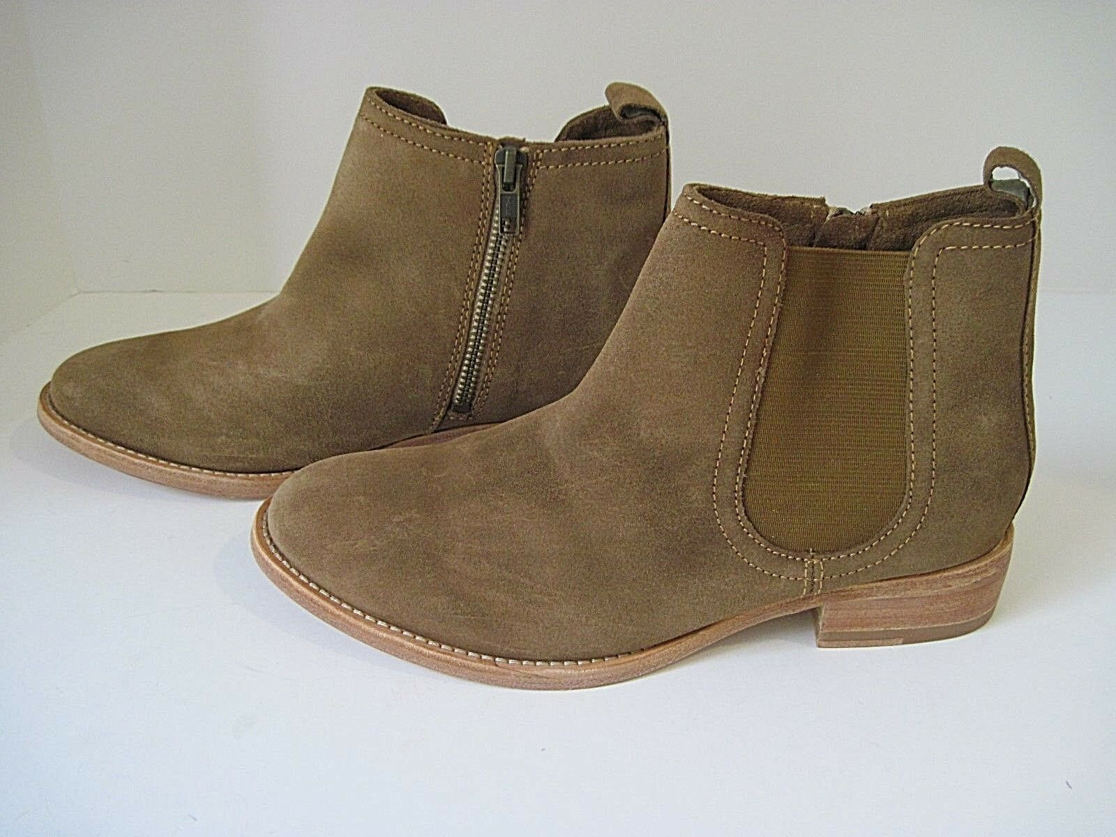 JOHNSTON  MURPHY Brown Nubuck 7M, Pull On/ Side Zip Stivali Size 7M, Nubuck NEW bd2f85