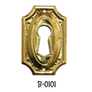 STAMPED BRASS KEY HOLE COVER  B0297