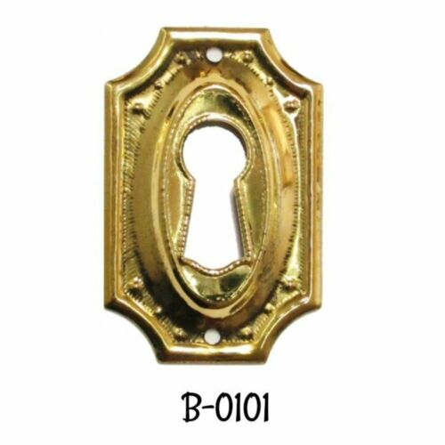 Keyhole Cover Hepplewhite//Sheraton Style Stamped Brass Key Hole Cover Escutcheon