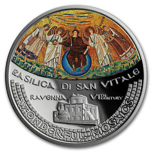 Wonderful Mosaics 5$ 2017 Cook Islands Basilica San Vitale