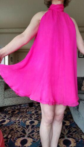 Catherine Regehr Hot Pink Baby Doll Chiffon Mini-D