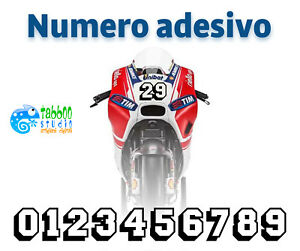 Adesivo Numero Gara Adesivi Numeri Racing In Vinile Per Auto Moto Kart