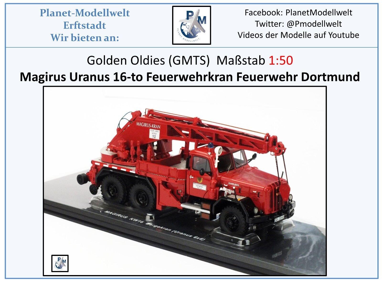 KHD KHD KHD Magirus Uranus 6x6 bergekran kw-16 BF Dortmund, Golden Oldies, 1:50, NEUF | Nouveau Produit  33073f