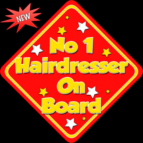 No 1 coiffeur à bord comme Bébé À Bord Voiture Signe non pers rouge jaune