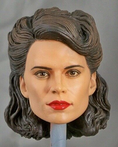 1:6 Custom Head of Hayley Atwell as Peggy Carter from the film Captain America