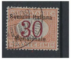 Somalia - 1906/8, 30c Postage Due stamp - F/U - SG D20