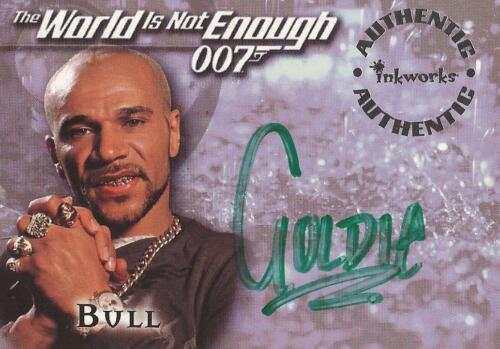 "James Bond The World Is Not Enough A6 Goldie ""Bull"" Auto Autograph Card"