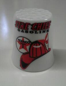 Texaco Fire Chief Gasoline Collectible Porcelain Thimble