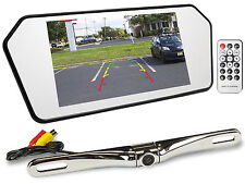 "Rockville R7CB 7"" Rearview Car Mirror w/ 7"" Monitor+Bluetooth/USB/SD+Camera"