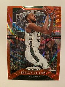 2019-20-Panini-Prizm-Khris-Middleton-Ruby-Wave-Prizm-SP-235-MINT-RARE