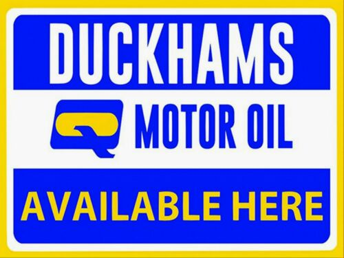 Duckhams motor VEHICLE oil garage workshop metal wall sign plaque shed decor