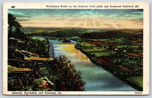 Towanda Pennsylvania PA Wyalusing Rock 500 Ft Above