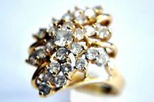 Vintage 10K Solid Yellow Gold and CZ  Ring Size 7