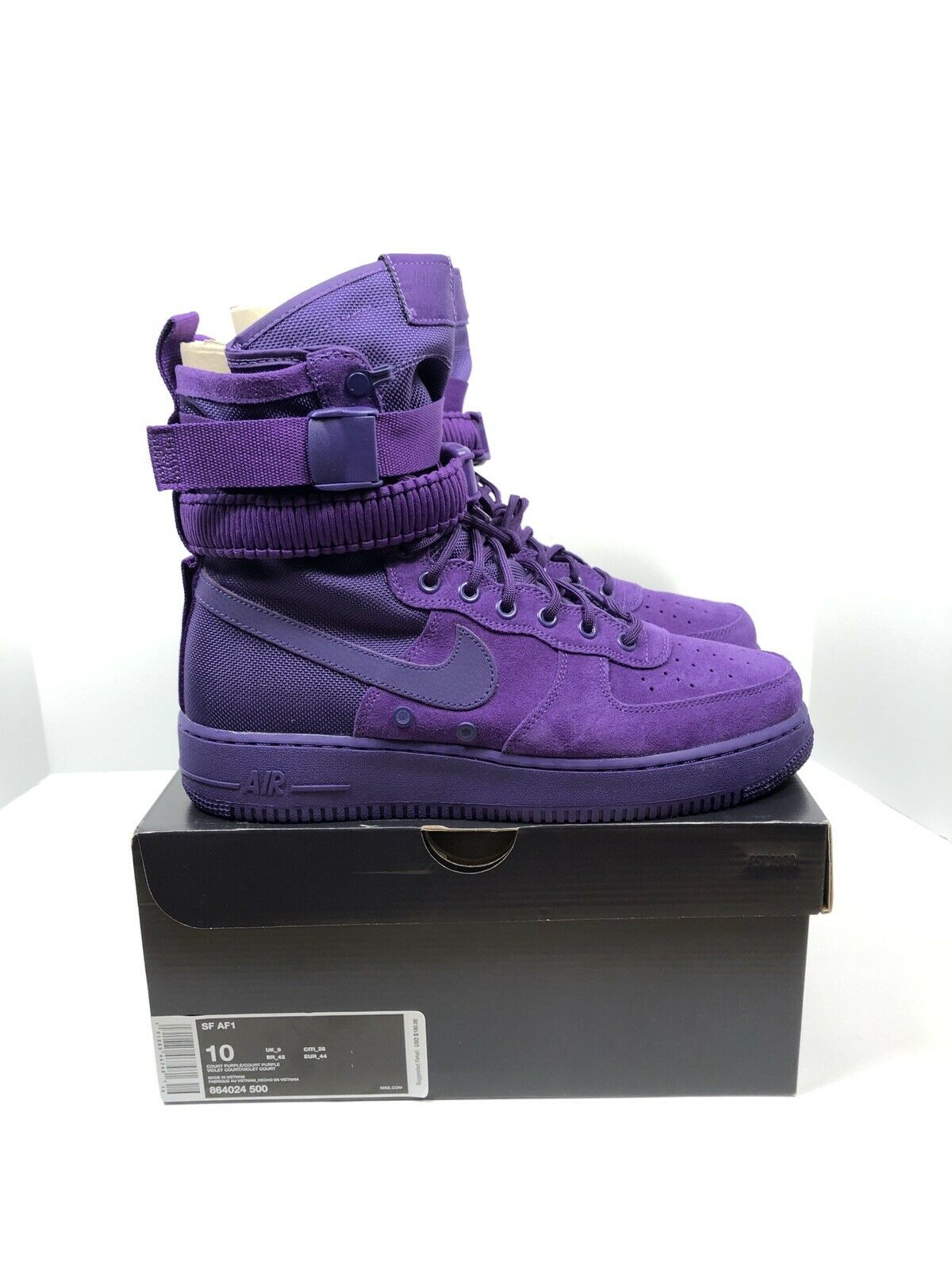 Nike Special Force Air Force 1 Court Purple Mens Size 10 Womens Size 11.5  150