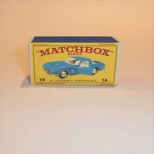 Matchbox-Lesney-14-d-Iso-Grifo-empty-Repro-E-style-Box