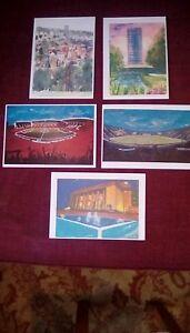 4 Sheffield art prints arts tower, city, football from original paintings