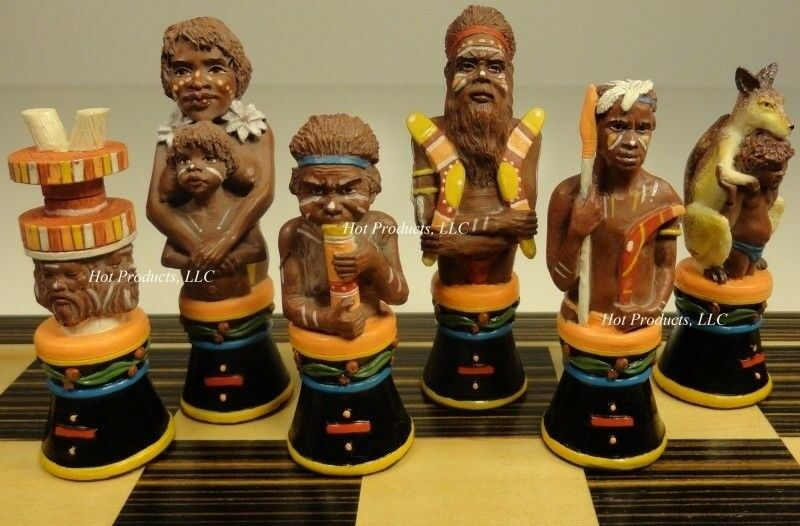 AUSTRALIAN ABORIGINES Chess Uomo Set aboriginal NO BOARD
