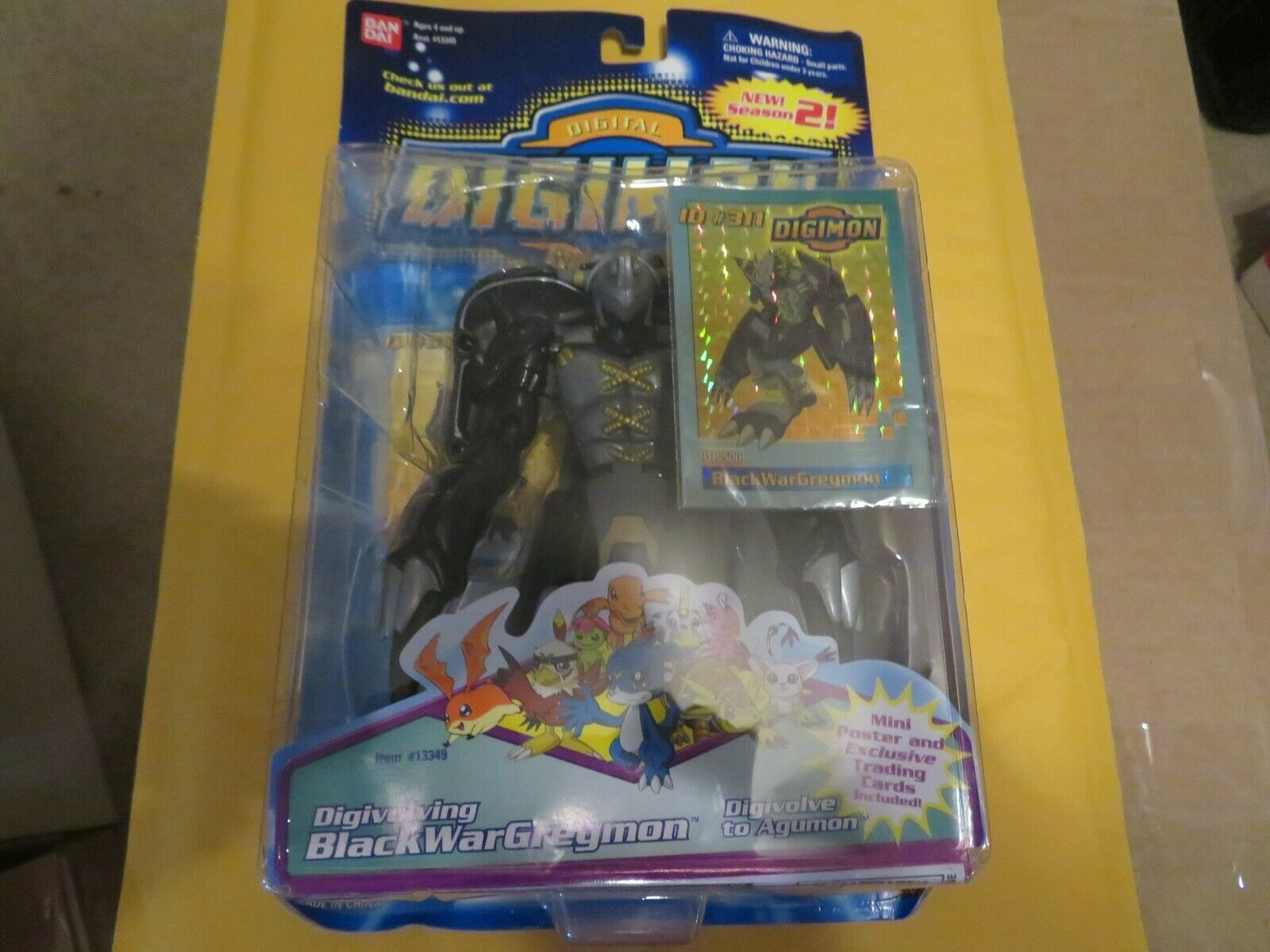 Ban Dai Digimon Bandai Negro guerra grismon Figura de Acción 1997 menta en tarjeta