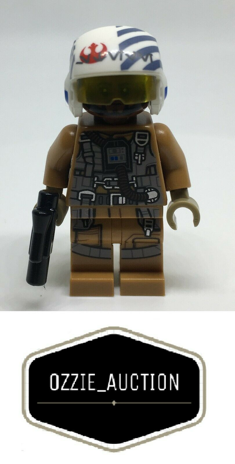 Raro Lego Star Wars Finch Dallow-Bombardero Piloto Minifigura [75188]