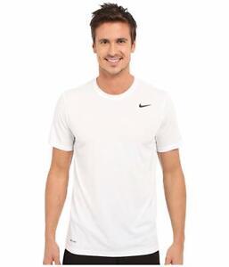 Nike-Men-039-s-White-Dri-FIT-Version-2-0-T-Shirt-Activewear-10018-Size-S