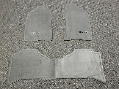 New OEM 1998-2004 Isuzu Rodeo Axiom 3 Piece Gray Floor Mat Carpet Set Left Right