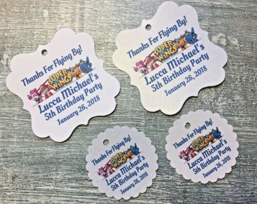Super Wings Birthday Super Wings Thank you favor Tags Super Wings Favor Tags