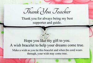 thank you teacher thank you gift wish bracelet message card tibetan