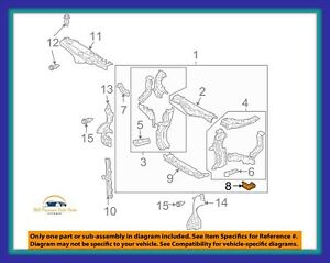 Oem Lexus 0409 Rx330 0608 Rx400 Bracket Radiator Support To Front. Is Loading Oemlexus0409rx3300608rx400. Lexus. Lexus Rx 400 Radiator Diagram At Scoala.co